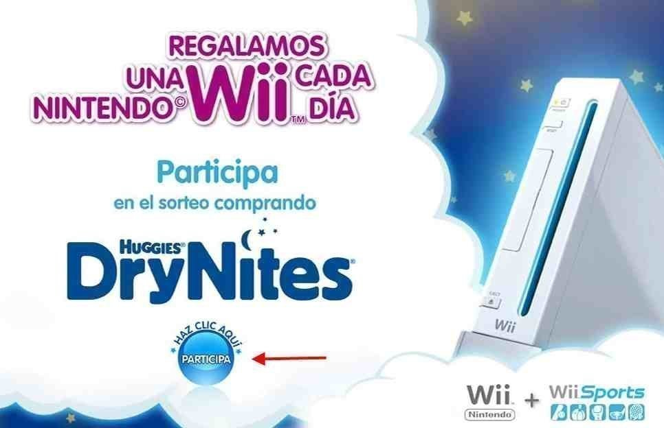 Ganar Nintendo Wii en Internet con Huggie
