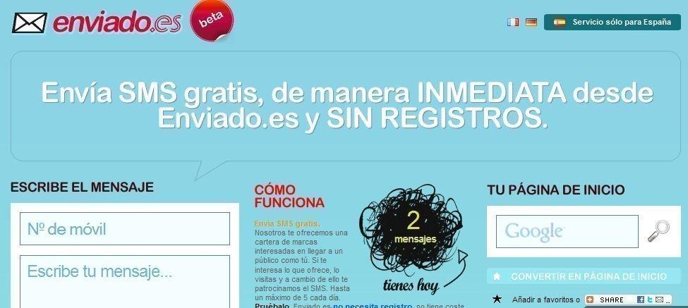 Enviar SMS gratis desde Internet