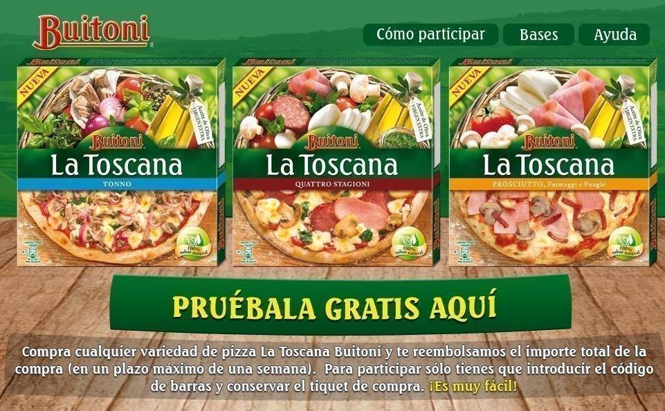 muestra gratis pizza