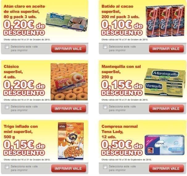 Imprime 6 Nuevos Cupones Descuento Para Supermercados Supersol Regalos Y Muestras Gratis