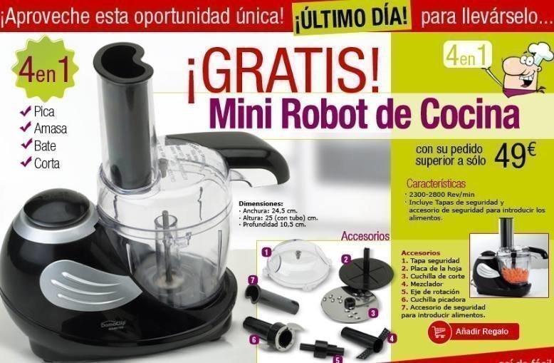 S lo hoy a ade un c digo promocional y llevate gratis un - Que hace un robot de cocina ...