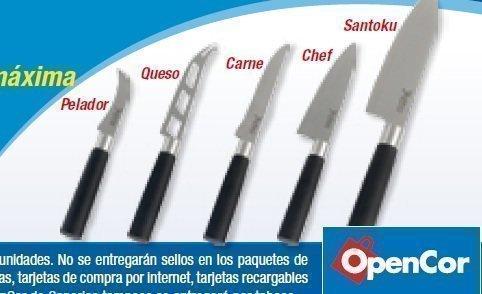 Consigue los cuchillos gratis de opencor regalos y for Cuchillos japoneses tipos