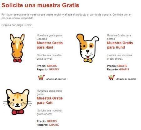 Muestras Gratis de comida para mascotas