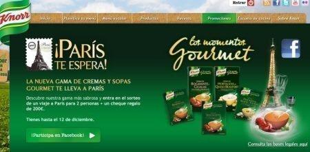 Sorteo de viaje a París de Knorr