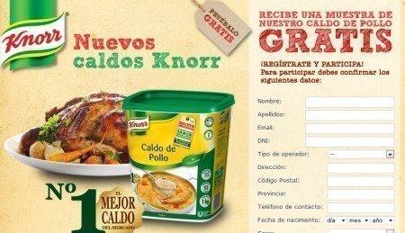 Muestras Gratis de Caldos Knorr