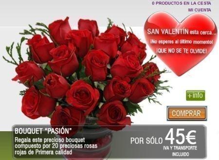 Cupones Descuento para San Valentin Maxima Flores | Regalos y ...