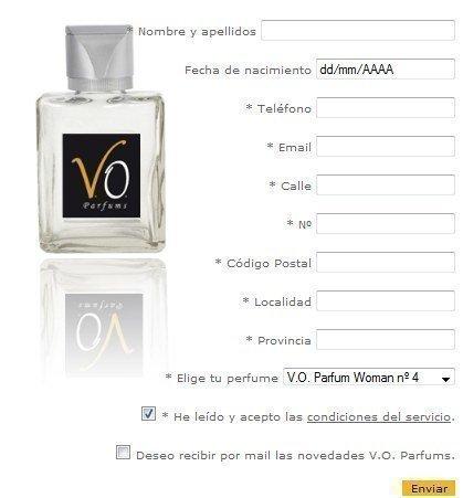 Muestras Gratis de VO Parfums