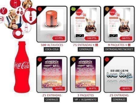 Viste los regalos de coca cola music experience - Regalos coca cola ...