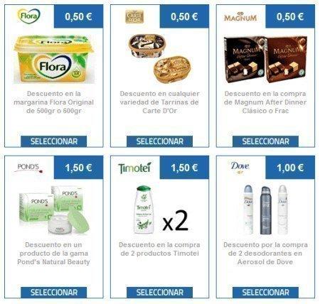 Cupones Descuento varios para Unilever – Regalos y Muestras