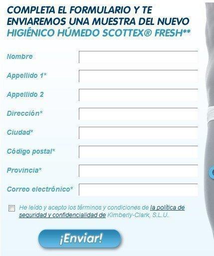 Muestras gratis de Scottex