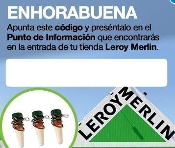 Muestras gratis de conos de riego leroy merlin regalos y for Riego automatico leroy merlin