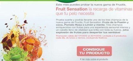 Muestras Gratis de Champu Fruit Sensation de Garnier