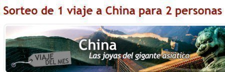 Sorteo de viaje a China