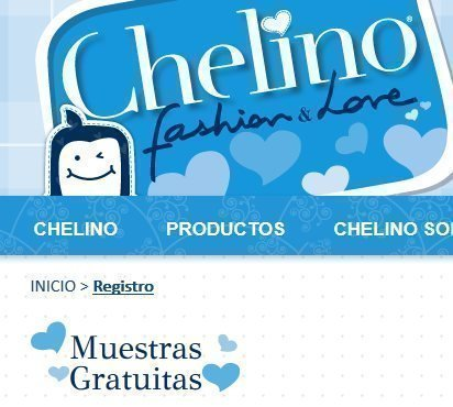 Muestras gratuitas de pañales Chelino