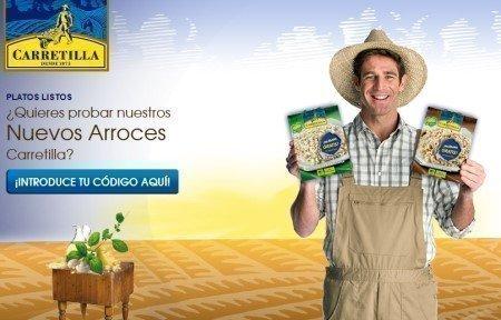 Muestras gratuitas de arroz Carretilla