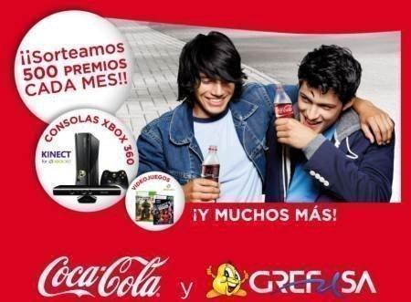 Gana consolas xbox y muchos premios m s con grefusa coca - Regalos coca cola ...
