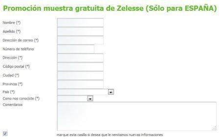 Muestras gratis Zelesse