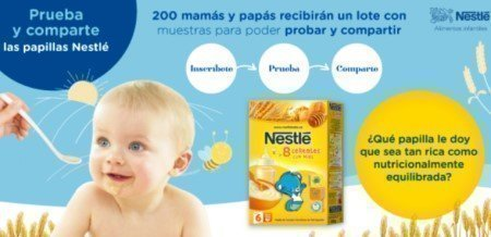 Muestras gratis Papillas Nestle