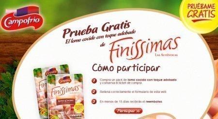 Prueba Gratis Lomo Cocido Campofrio