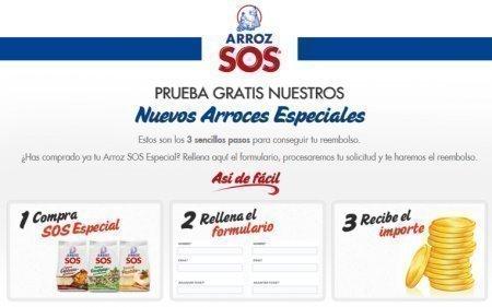 Muestras gratis de arroz SOS