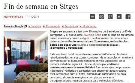 Sorteo de viaje a Sitges