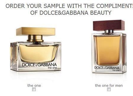 Muestras gratis de perfume Dolce & Gabbana