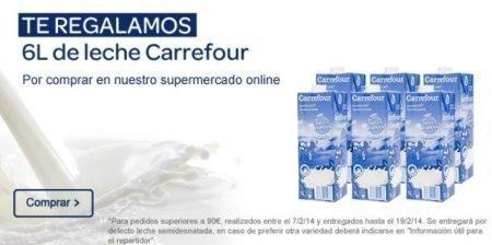 Muestras gratis Carrefour Leche Semidesnatada