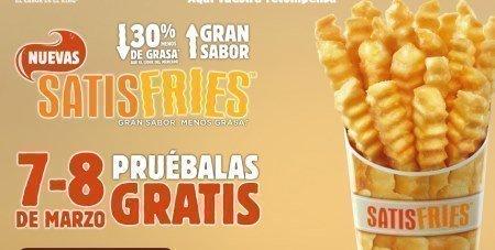 Muestras gratis de patatas Burger King