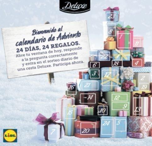 Calendario Adviento Lidl.Cestas Deluxe Con El Calendario De Lidl Regalos Y Muestras Gratis