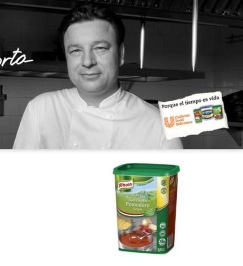 Muestras de salsa Knorr