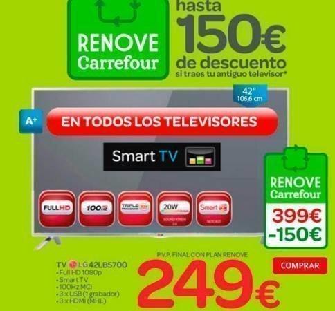 Plan Renove En Carrefour Para Tu Nuevo Tv Regalos Y Muestras Gratis