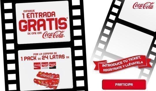 Consigue entradas de cine por comprar latas de coca cola - Regalos coca cola ...