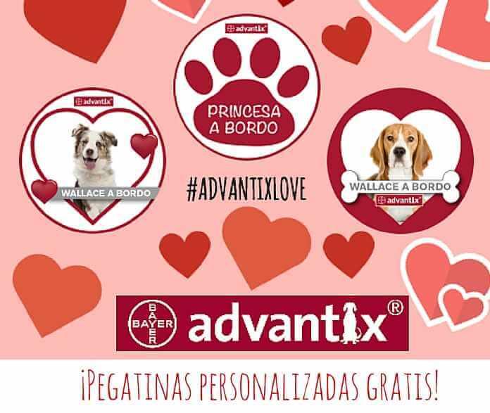 Consigue gratis tu pegatina mascota a bordo de Advantix