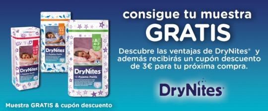 muestras gratis y cupón descuento de drynites de huggies regalos y