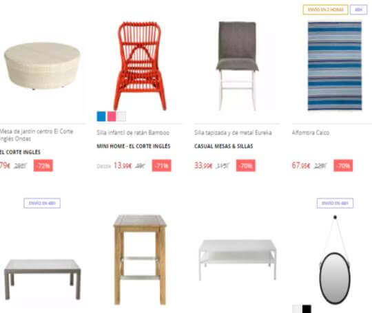 mercadillo online de muebles en el corte ingl s regalos