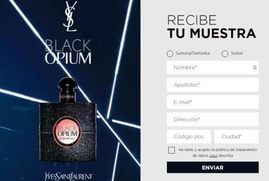 black-opium-muestras-gratis