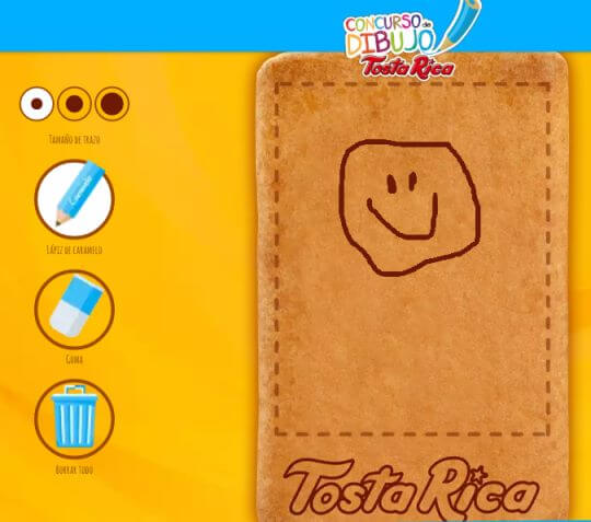 Tostarica te invita a dibujar el mejor diseño para sus galletas