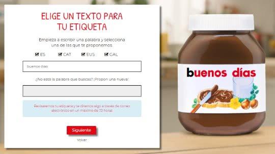 Consigue Una Etiqueta Gratis De Nutella Personalizada