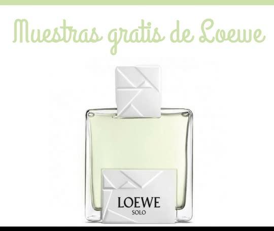 perfumes loewe muestras gratis