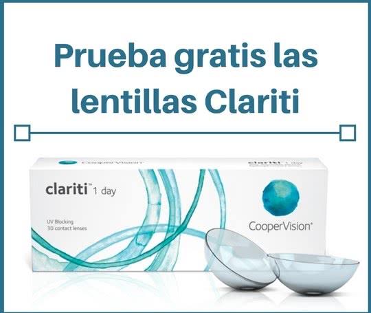 ac4415601d690 Pide muestras gratis de lentillas Clariti diarias ¡para 5 días! – Regalos y  Muestras gratis