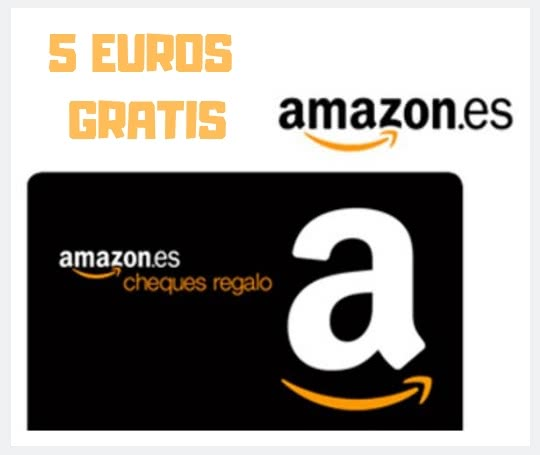 cheque regalo promocional de 5 euros