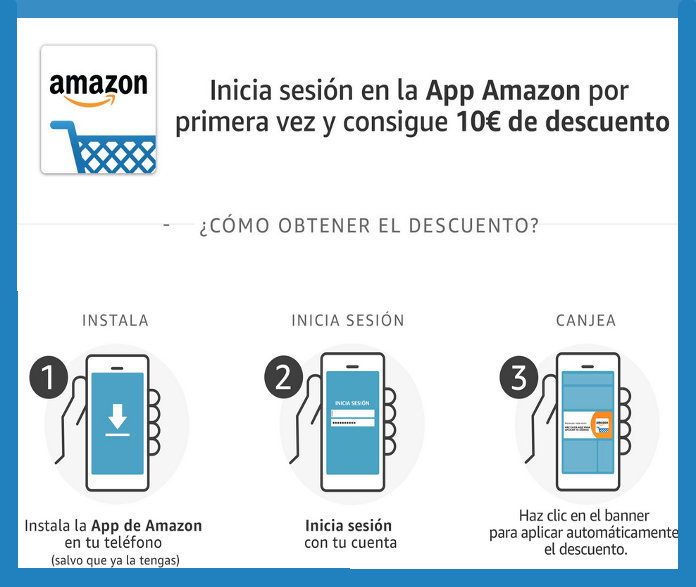 Añade descuentos de 10 y 3€ a tu saldo en AMAZON (precio: €)
