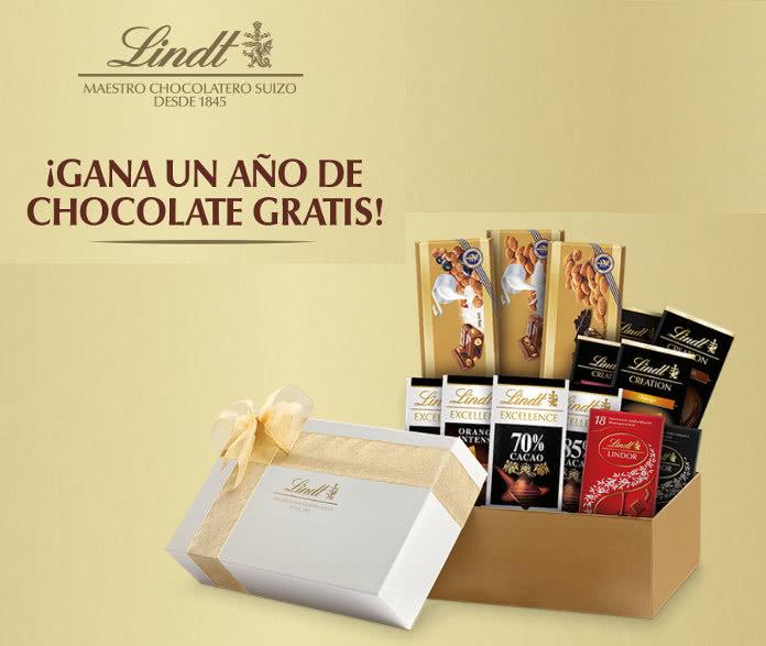 Gana un año de chocolates LINDT gratis