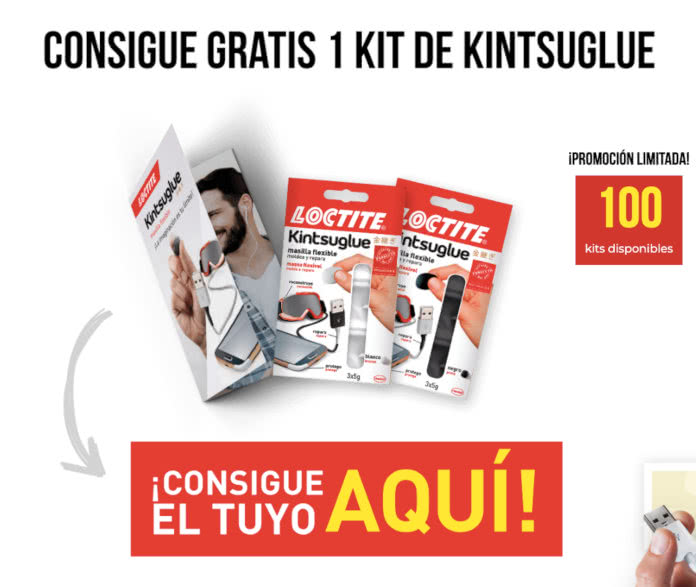 Loctite regala 100 masillas flexibles Kintsuglue y sortea un iPhone XS