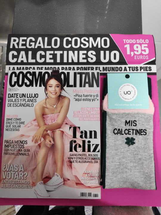 regalos-revistas-mayo-2019-cosmopolitan-pocket-calcetines-uo