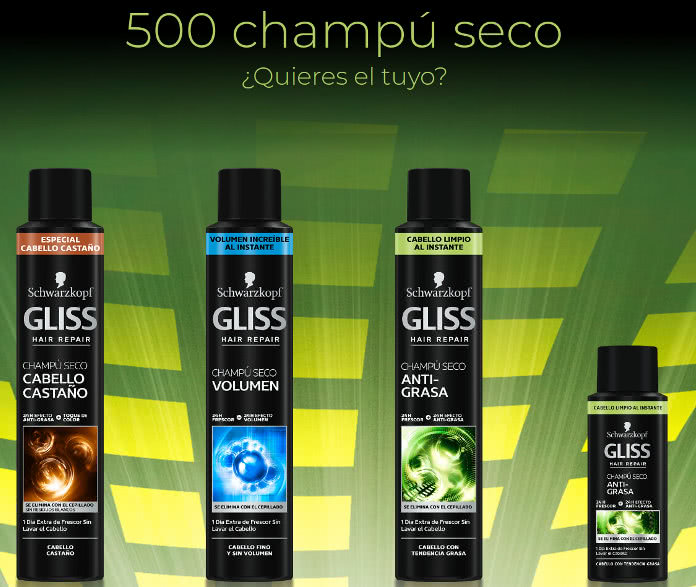 GLISS sortea 500 champús secos si compartes tus secretos