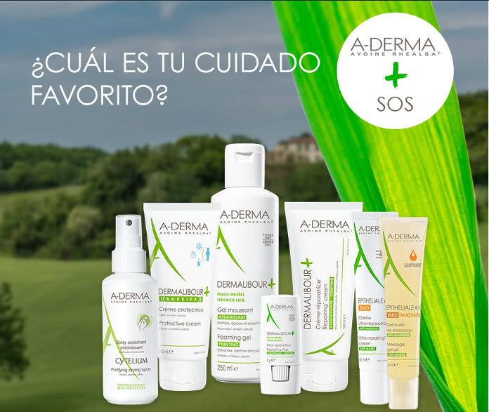 A-Derma sortea 35 productos y puedes escoger entre 7 gamas