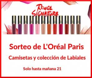 sorteo-loreal-labiales-rouge-signature-camiseta