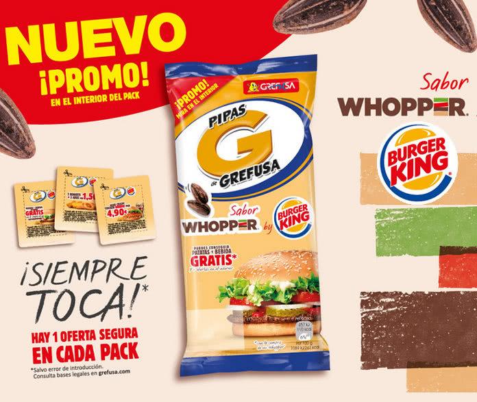 2.595.000 de cupones y premios seguros para Burger King con Grefusa