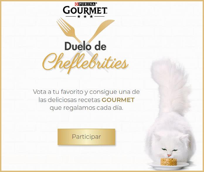 5.000 muestras gratis de Purina Gourmet en el Duelo de cheflebrities